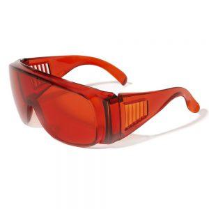 rode bril veiligheidsbril tanden bleken